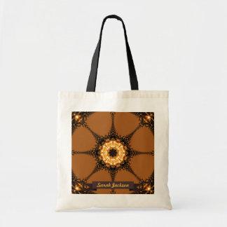 Bolso del arte del compás del fractal bolsa de mano