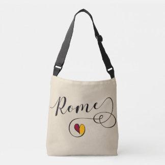 Bolso del corazón de Roma, Italia, bandera romana