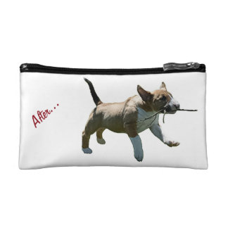 Bolso del cosmético de bull terrier