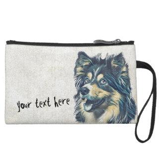Bolso del cosmético de la pintura del perro pastor