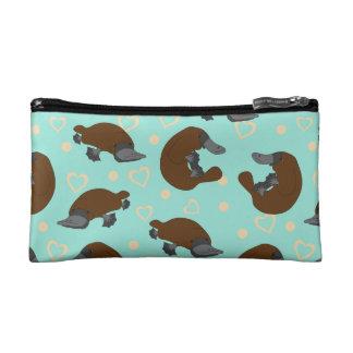 Bolso del cosmético del amor de Platypus