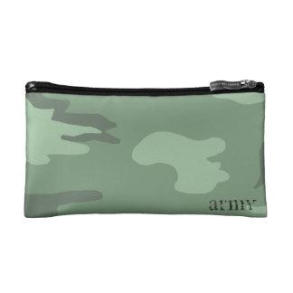 bolso del cosmético del camo
