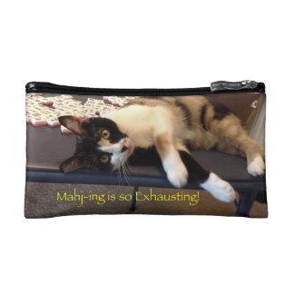 Bolso del cosmético del gato del Mah Jongg