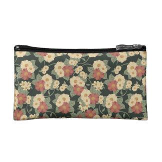 Bolso del cosmético del jardín de flores del