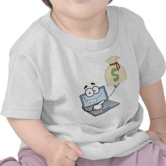 Bolso del dinero de las exhibiciones de personaje camisetas