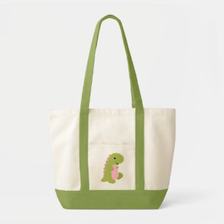 Bolso del dinosaurio bolsa tela impulso