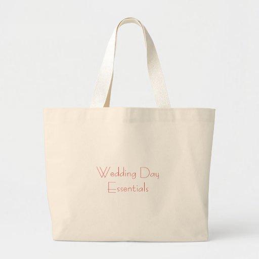 Bolso del esencial del día de boda bolsas lienzo
