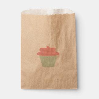 Bolso del favor de la magdalena bolsa de papel