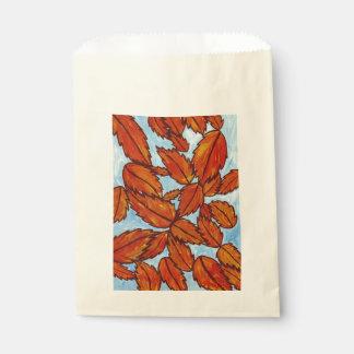 Bolso del favor de las hojas de otoño bolsa de papel