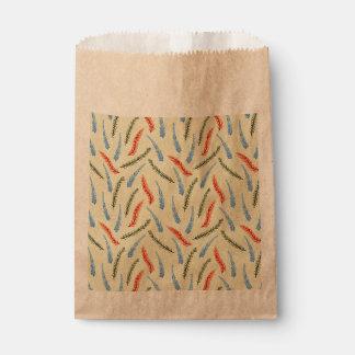 Bolso del favor de las ramas bolsa de papel