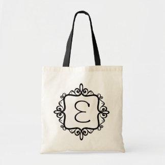 Bolso del favor del boda del monograma bolsa de mano