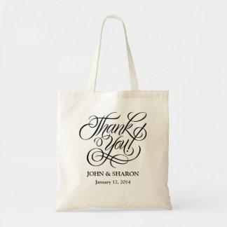 Bolso del favor del boda - gracias bolsa tela barata