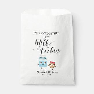 Bolso del favor del boda - vamos juntos las bolsa de papel