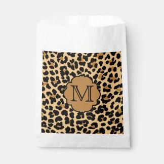 Bolso del favor del monograma del estampado bolsa de papel