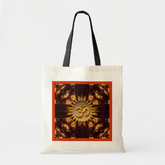 Bolso del fuego del batik de OM (Aum) Bolsas Lienzo