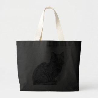 Bolso del gato negro bolsa lienzo