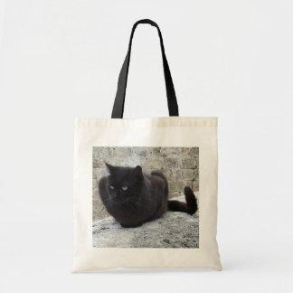 Bolso del gato negro - elija el estilo y el color bolsa tela barata