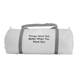 bolso del gimnasio con un mensaje bolsa de deporte