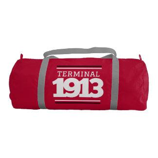 Bolso del gimnasio del rojo del terminal 1913 bolsa de deporte