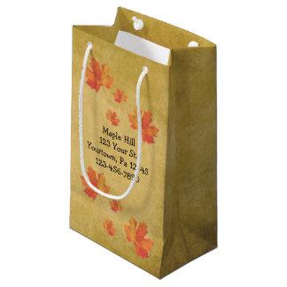 Bolso del jarabe de arce de las hojas de arce bolsa de regalo pequeña