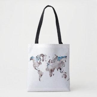 bolso del mapa del mundo