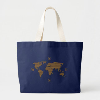 Bolso del mapa del mundo de la cartulina bolsa lienzo