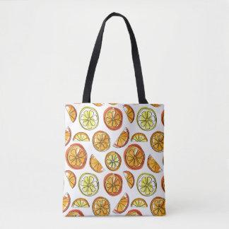 Bolso del naranja y del limón - tote de la fruta