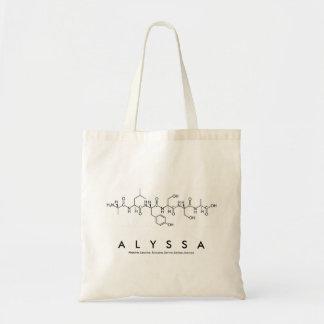 Bolso del nombre del péptido de Alyssa