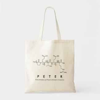 Bolso del nombre del péptido de Peter