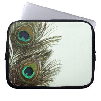 Bolso del ordenador portátil de la pluma del pavo