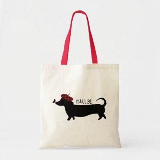 Bolso del perro de salchicha