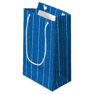 Bolso del regalo de HAMbyWG - raya azul del Topaz Bolsa De Regalo Pequeña