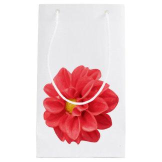 Bolso del regalo de la flor de la dalia bolsa de regalo pequeña