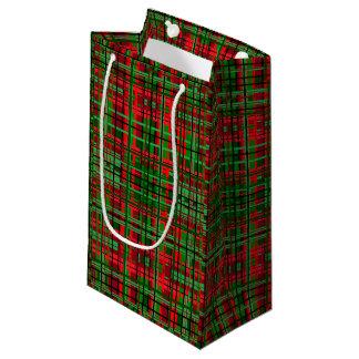 Bolso del regalo de la tela escocesa del navidad bolsa de regalo pequeña