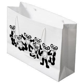 bolso del regalo de los amigos de la panda bolsa de regalo grande
