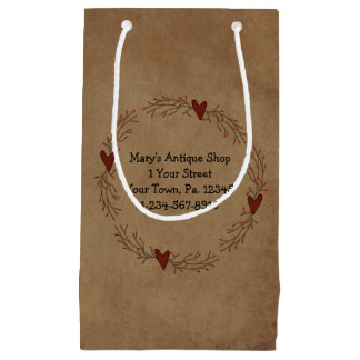 Bolso del regalo del círculo del corazón de la bolsa de regalo pequeña