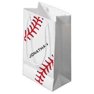 Bolso del regalo del diseño del softball del bolsa de regalo pequeña