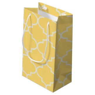 Bolso del regalo del enrejado marroquí amarillo de bolsa de regalo pequeña