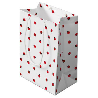 Bolso del regalo del modelo de la mariquita bolsa de regalo mediana