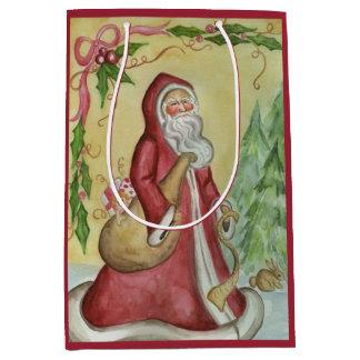 Bolso del regalo del navidad del padre bolsa de regalo mediana