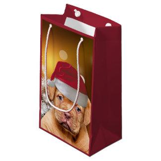 Bolso del regalo del navidad del perrito de Dogue Bolsa De Regalo Pequeña