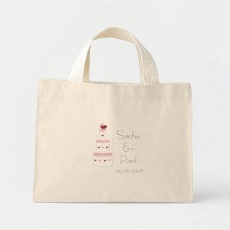 Bolso del regalo del pastel de bodas bolsa de mano