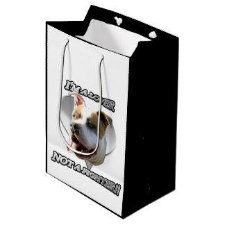 Bolso del regalo del perro de Pitbull Bolsa De Regalo Mediana