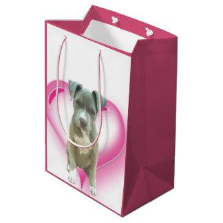 Bolso del regalo del perro de Pitbull de la Bolsa De Regalo Mediana