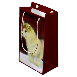 Bolso del regalo del perro del Malamute de Alaska Bolsa De Regalo Pequeña