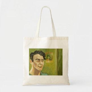 Bolso del retrato del hombre joven del estilo de V Bolsa Tela Barata