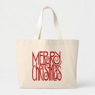 Bolso del rojo de las Felices Navidad Bolsa De Mano