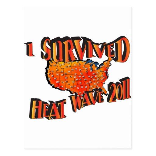 Bolso del superviviente 2011 de la ola de calor tarjetas postales