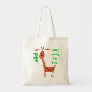 Bolso divertido de la jirafa bolsa tela barata