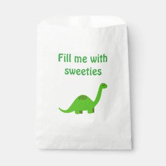 Bolso dulce del favor de fiesta del dinosaurio bolsa de papel